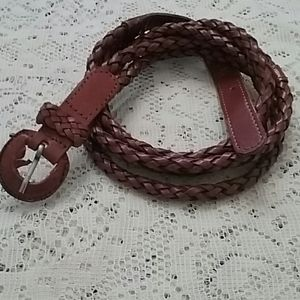 Vintage Capezio Braided Leather Belt